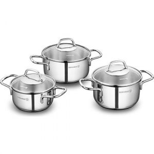 3 Piece Stainless Steel Non-Stick Cookware Set