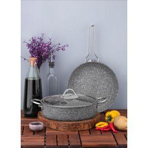 3 Piece Granite Non-Stick Cookware Set