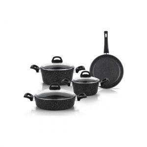 7 Piece Non-Stick Granite Cookware Set