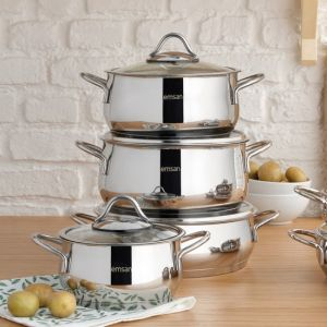 8 Piece Stainless Steel Induction Base Cookware Set