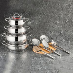 13 Piece Stainless Steel Cookware Set
