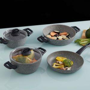 7 Piece Granite Non-Stick Cookware Set