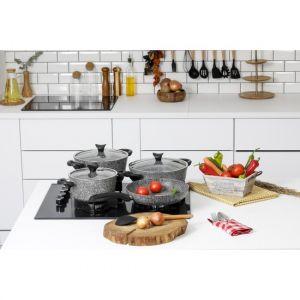 7 Piece Gray Granite Cookware Set