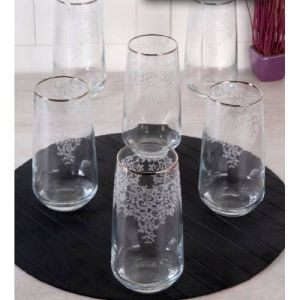 Lace Platinum Gilded Long Soft Drink Cup