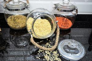 Glass Chubby Spice Jar 3 Pieces