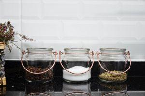 Glass Spice Jar 3 Pieces