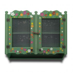 Country green double wire cabinet