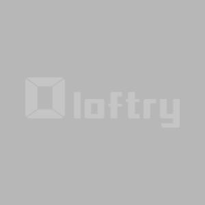 Solid Wood Teak Color 40x40 Side Table, C-Shaped